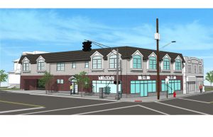 Architectural Drawing Picture of a mixed use building in Nutley NJ that is currently being funded with a Bridge Loan. Local Bank in Fairlawn NJ